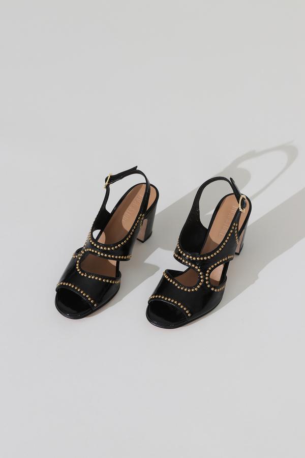 No.6 Cleo Heel - Black Studs
