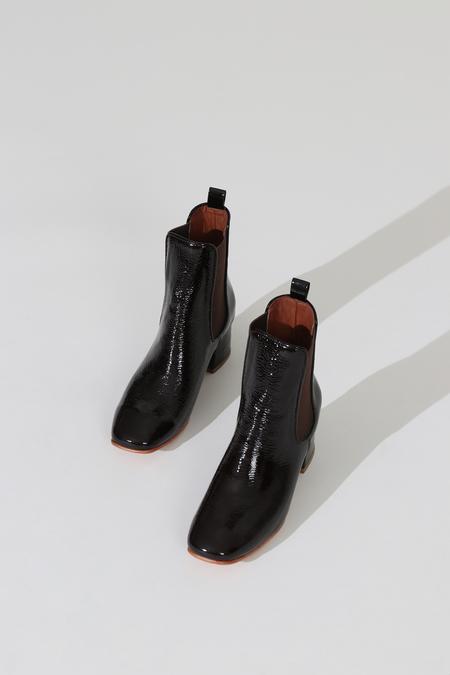 No.6 Bristol Crinkle Ankle Boot - Espresso
