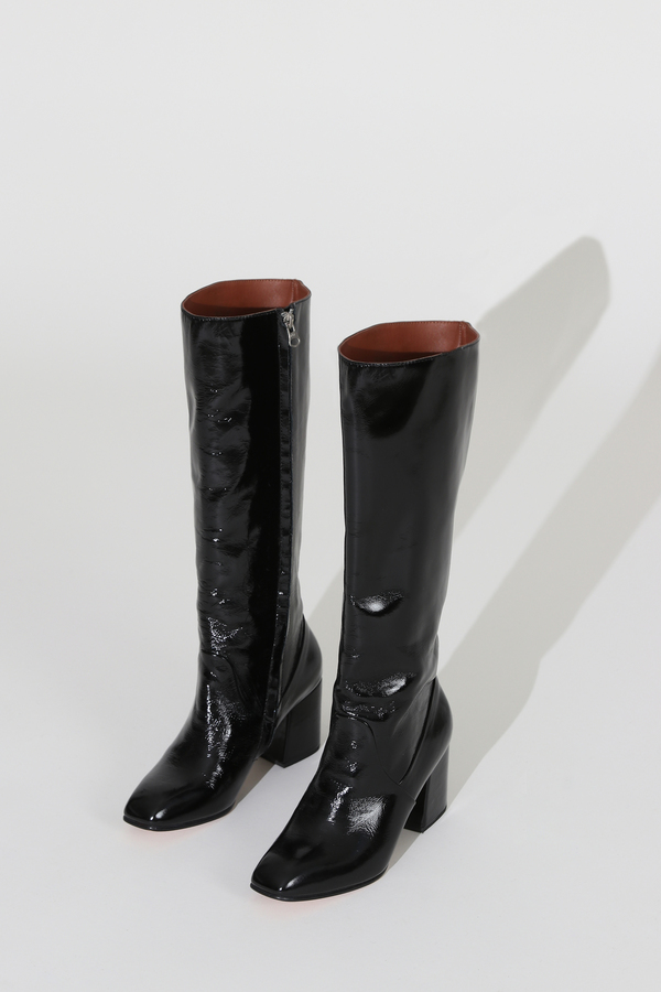No.6 Sloan Leather Knee High Boot - Ink