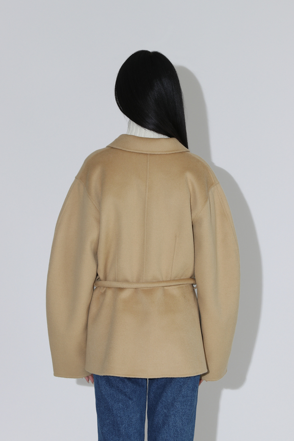 Nanushka Adut Tube Belt Jacket - Cashew