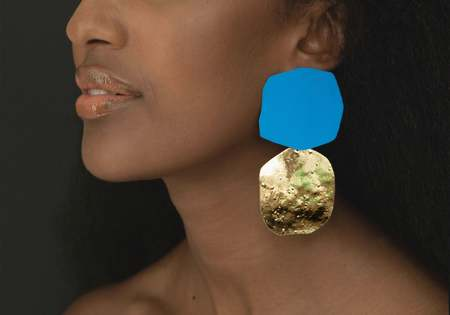 Julie Thevenot ACANTHA EARRINGS - SEA