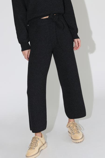 Nanushka Tigre Knit Pants - Charcoal