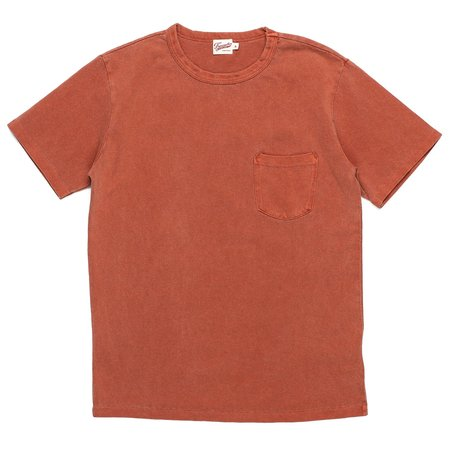 Freenote Cloth Washed Pocket Tee - Rust