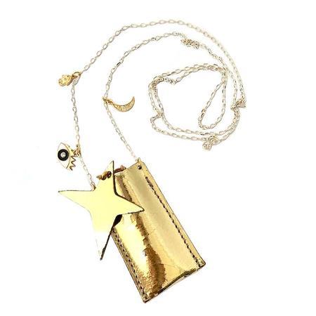 Kids Atsuyo Et Akiko Amulet Crystal Necklace - Foil Gold