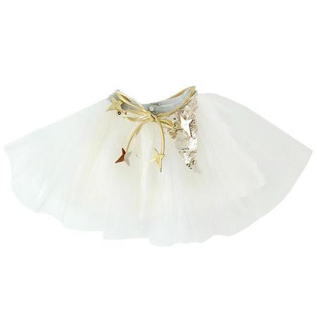 Kids Atsuyo Et Akiko Miss Eye Tutu With Gold Details - Ivory White