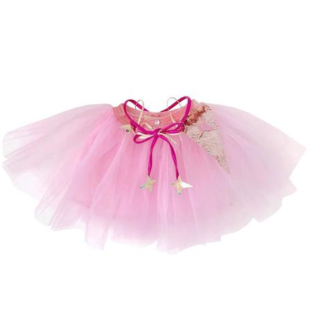 Kids Atsuyo Et Akiko Miss Eye Tutu With Pink Silk And Gold Details - Pink