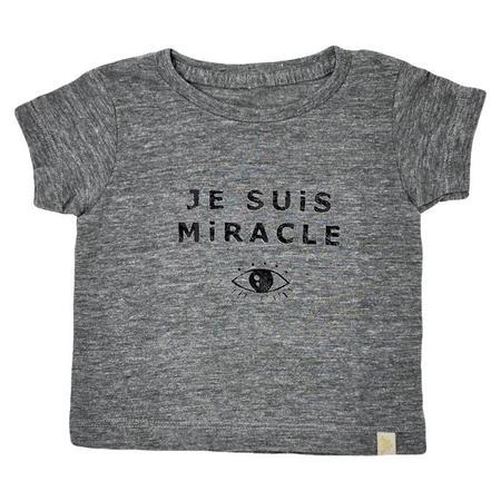 Kids Atsuyo Et Akiko Baby Je Suis Miracle Tri-Blend T-shirt - Grey