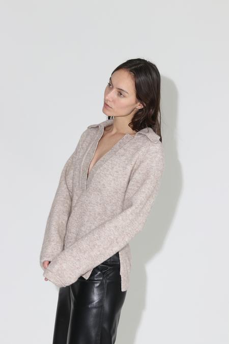 Nanushka Bambi Polo Neck Sweater - Latte