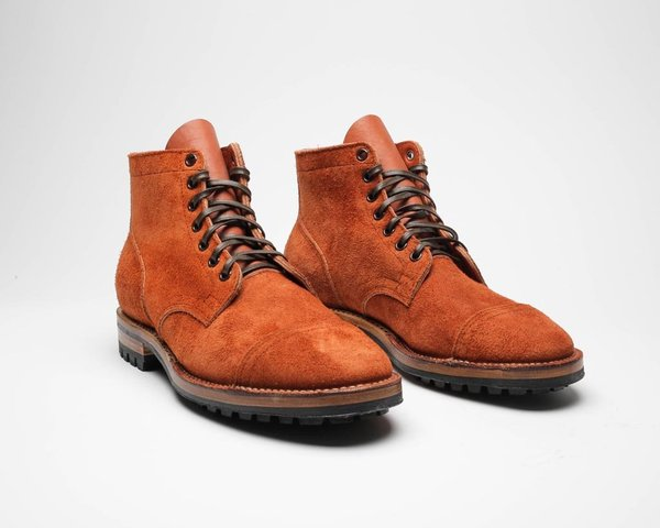 Viberg Taurus Roughout Service Boot - Tan