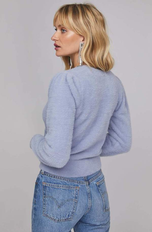 ASTR The Label Sheresa Wrap Sweater - Soft Blue