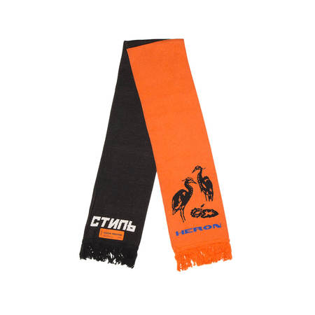 Heron Preston Double Color Scarf - Black/Orange
