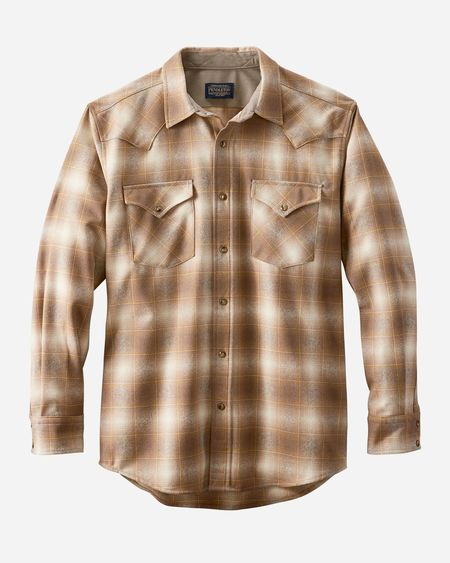 Pendleton Canyon Fitted Snap Front Western Shirt