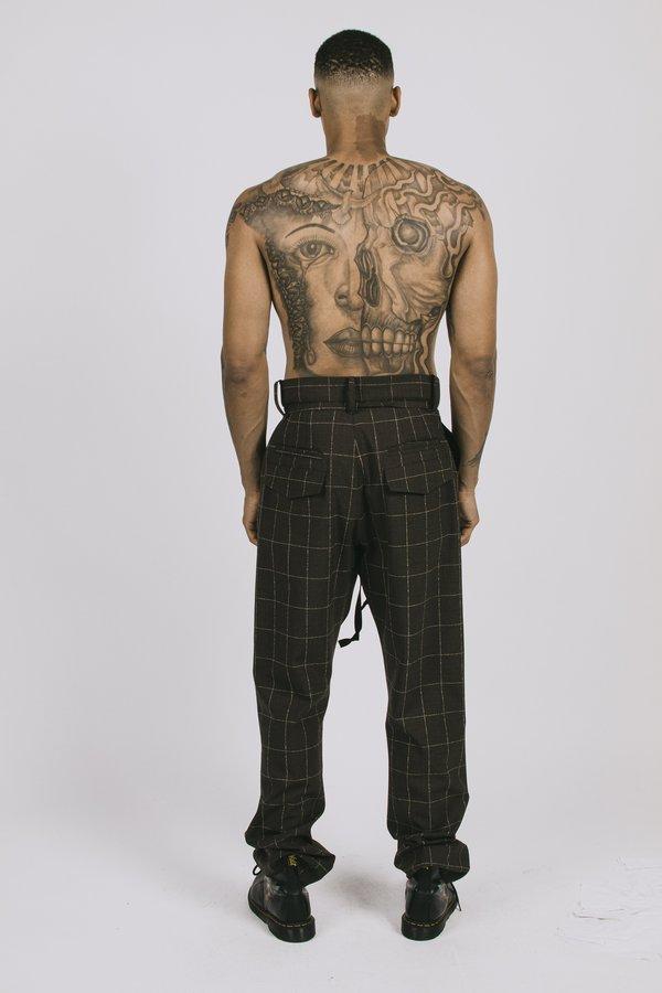 l'equip Roman Plaid Ford Pants