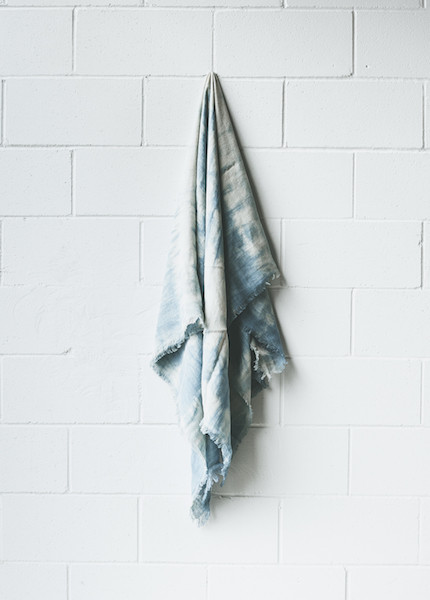 Symmetry and Grace Symmetry & Grace Hand Dyed Loose Weave Linen Scarf