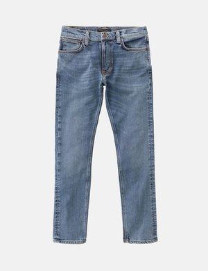 Nudie Jeans Lean Dean Jeans Slim Tapered - Lost Orange Blue