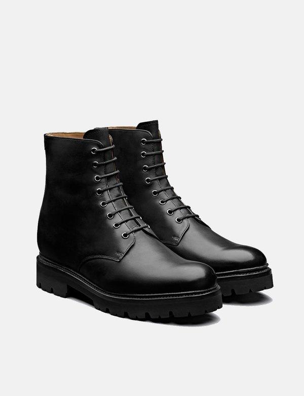 Grenson Hadley Leather Boot - Black