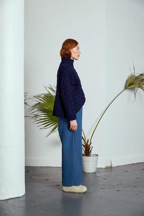 Rujuta Sheth Cable Knit Sweater - Royal