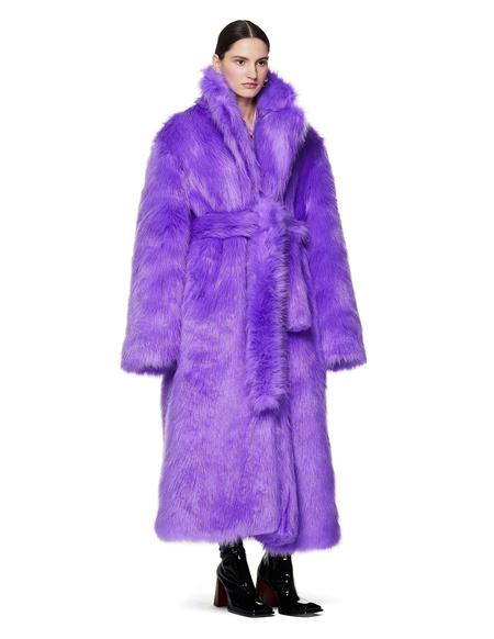 Vetements Faux Fur Coat - Purple