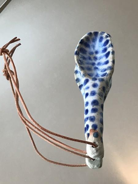 Eeli Pots spotted spoon - Blue/White