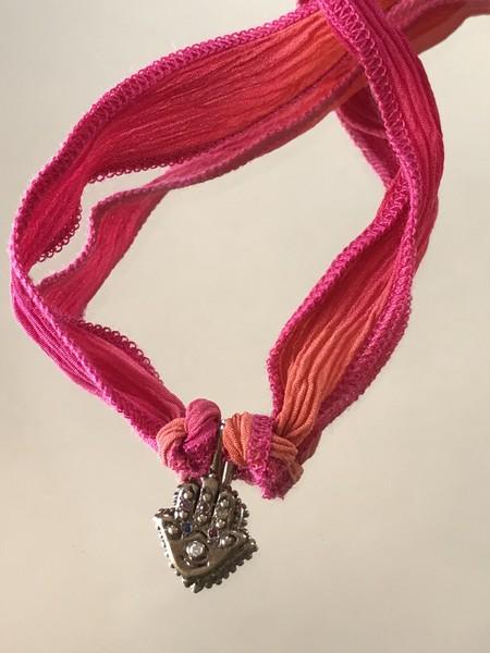 Catherine Michiels Hamsa hand Charm - Bronze/Dia