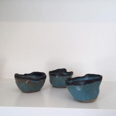 Eeli Pots Ceramic Bowl - teal/navy