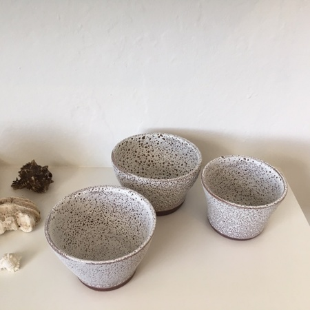 Eeli Pots Ceramics #44 - White Speckle