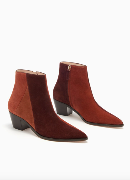 Ulla Johnson Lola Ankle Boot - Suede Combo