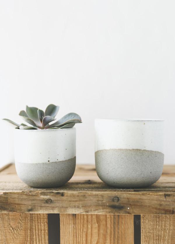 Humble Ceramics - Alder Tumbler in Greystone and Snow White ( 6 oz or 10 oz )