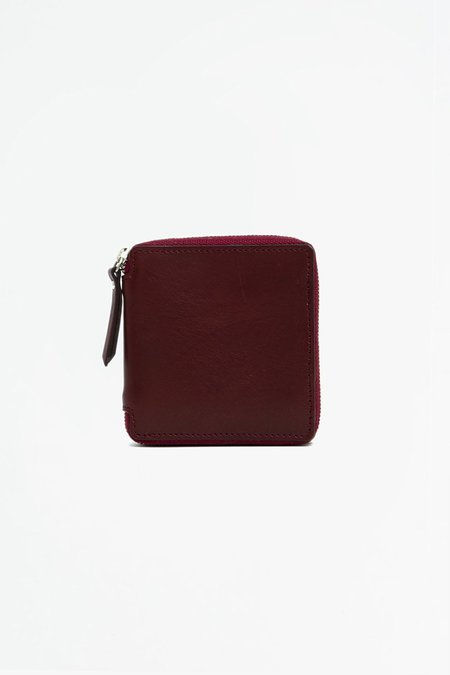 Del Barrio Big Zipped Wallet - Burgundy