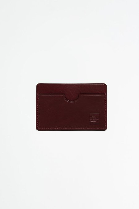 Del Barrio Simple Cardholder - Burgundy