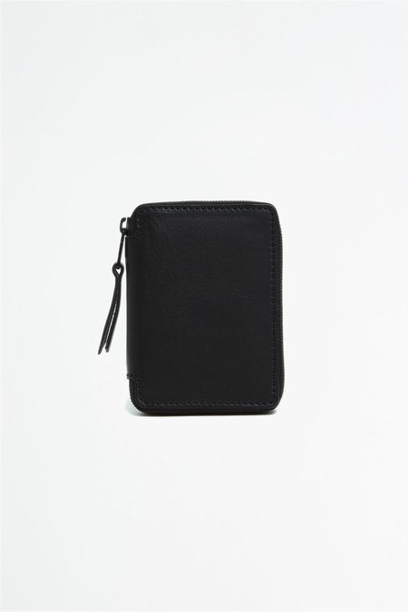 Del Barrio Small Zipped Wallet - Black/Green