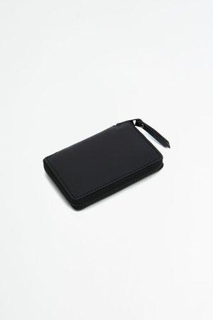 Del Barrio Small Zipped Wallet - Black/Green