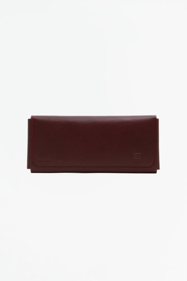 Del Barrio Travel Wallet with Snaps - Burgundy