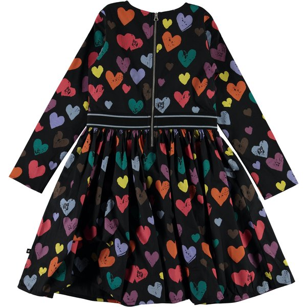 kids molo christin long sleeve dress - love forever