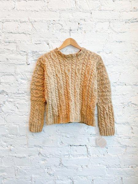 Handspun Hope Domina Cable Sweater - Shallot Cotton