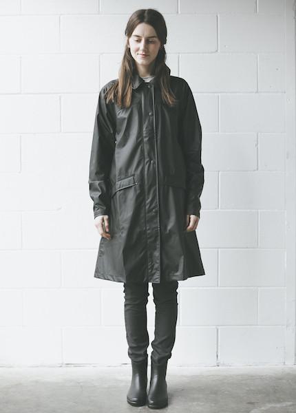 Rains - Bell Jacket in Black