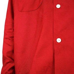 Needles CUT OFF BOTTOM CLASSIC PAISLEY SHIRT - RED
