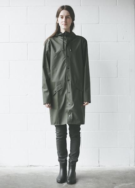 Rains - Long Jacket in Green