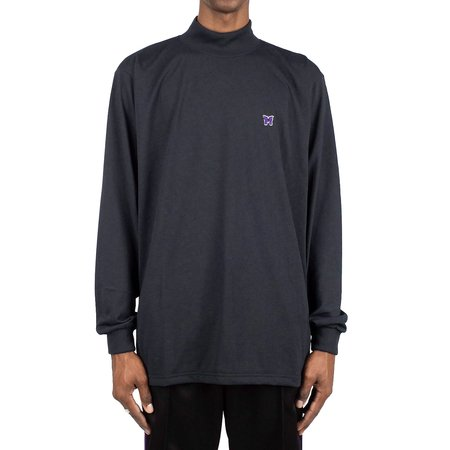 Needles Long sleeve SYNTHETIC JERSEY MOCK NECK SHIRT - BLACK