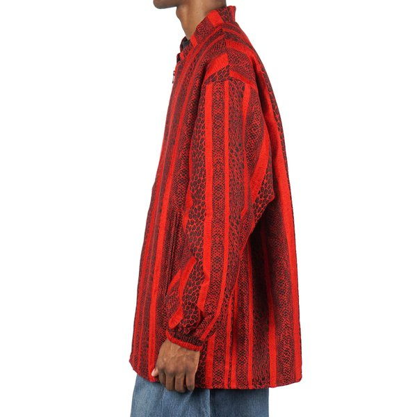 Needles STAND COLLAR SUR COAT - RED