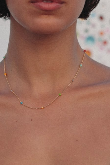 Luiny Rainbow Chain Necklace