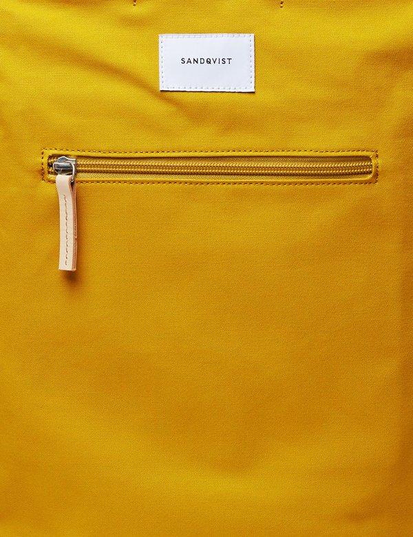 Sandqvist Tony Tote Bag (Canvas) - Yellow/Natural