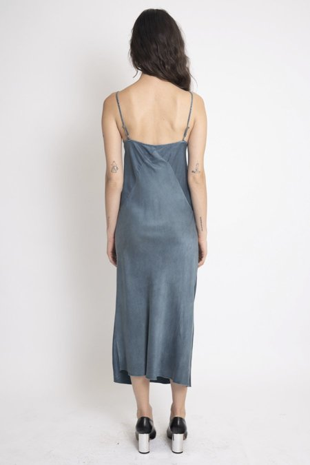 KES 7/8 Triangle Slip Dress - Organic Dusty Indigo