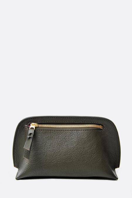 Lotuff Leather Mini Lois Pouch - Olive/Fuschia
