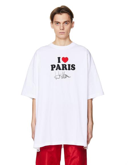 Vetements I Heart Paris Cotton T-Shirt - White
