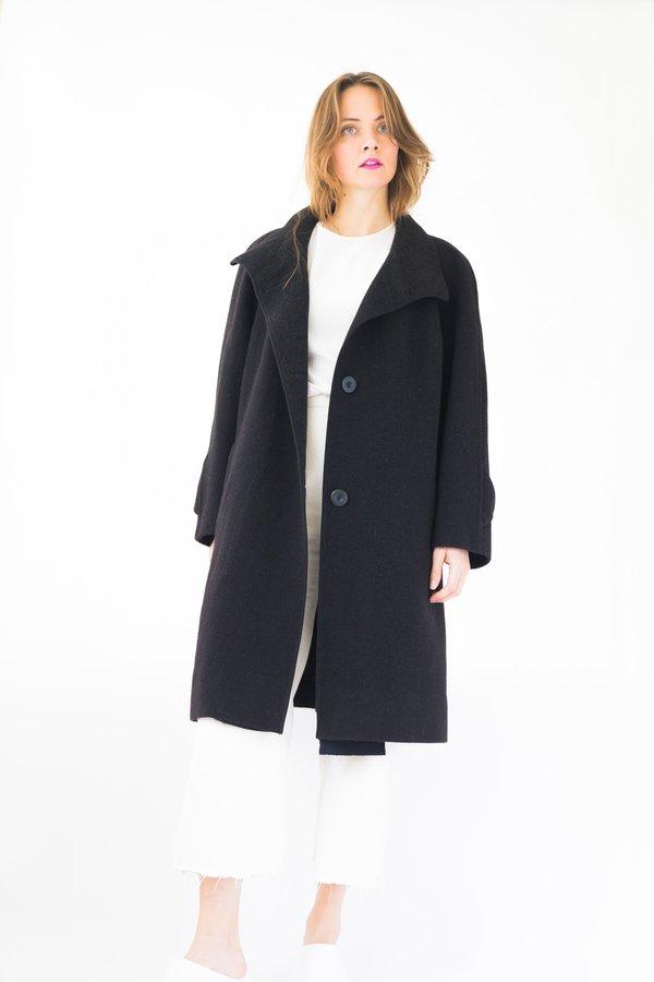 Backtalk PDX Vintage Wool Coat - Black
