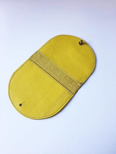 Sara Barner Half Round Wallet - Yellow