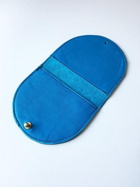Sara Barner Half Round Wallet - Turquoise