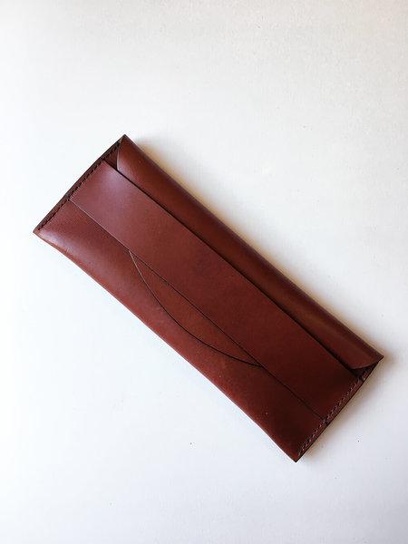 Sara Barner Long Pouch - Medium Brown