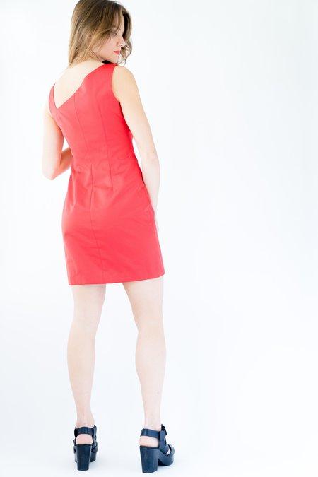 Backtalk PDX Vintage 90s Satin Holiday Dress - Red